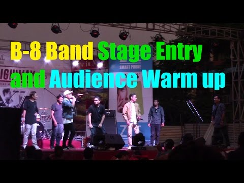 B-8 Band - Stage Entry and Audience Warm Up - Rhythm Highway Concert 2016 @ Narayangarh