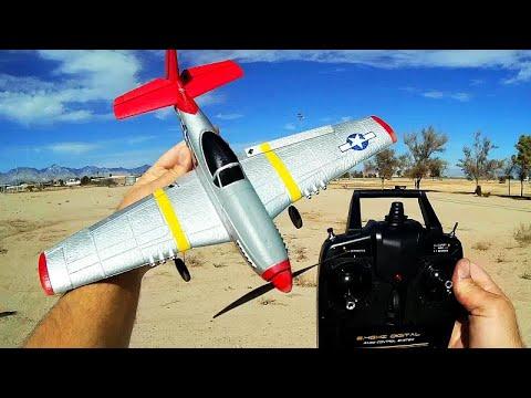 Eachine P-51D Mini Mustang Stabilized 4 Channel Stunt Trainer Plane Flight Test Review - UC90A4JdsSoFm1Okfu0DHTuQ