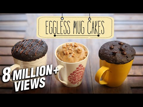How To Make Eggless Mug Cakes | 2 Minute Microwave Mug Cakes | Beat Batter Bake With Priyanka - UCdegm7Y2AePJhkkmWCyYEwg
