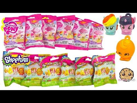 My Little Pony &  Shopkins Season 1 & 2  Blind Bags Surprise Microlite - Cookieswirlc Video - UCelMeixAOTs2OQAAi9wU8-g