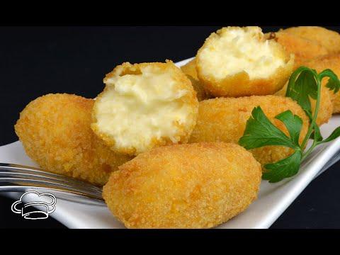 Croquetas de queso muy cremosas con torta del casar