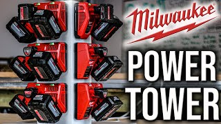 MILWAUKEE TOOLS RED LITHIUM SUPERCHARGER TOWER OF POWER!