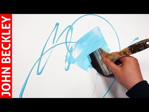 Art Abstrait – Démonstration Peinture Acrylique  | Merus