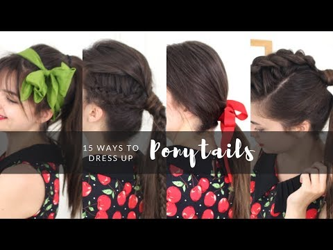 15 Ways To Dress Up A Ponytail