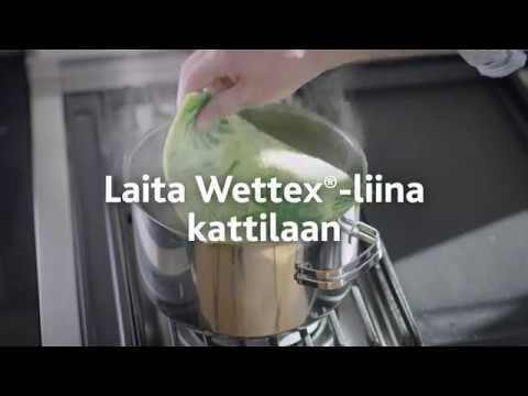 Kuinka huoltaa Wettex-liinaa?