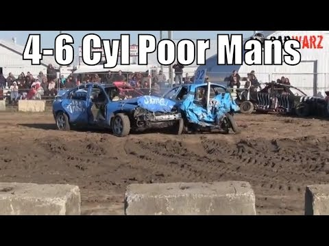 4-6 Cyl Poor Mans Consolation At Brigden Fair Demolition Derby 2018 Camera 2