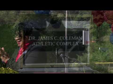 channeltougaloo Live Stream Dedication of the Dr. James C. Coleman Athletics Complex Entrance Sign
