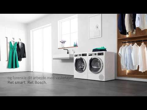 Bosch sætter ny standard for at vaske og tørre tøj – flere nye funktioner til at lette din hverdag.