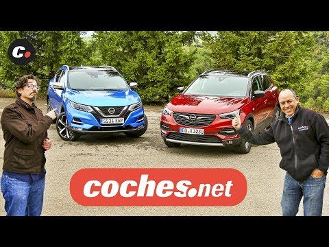 Opel Grandland X vs Nissan Qashqai 2019 SUV | Prueba Comparativa / Test / Review | coches.net