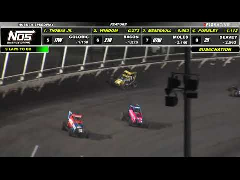 USAC NOS Energy Drink National Midget Highlights   Huset's Speedway USAC Nationals   9/10/2021 - dirt track racing video image