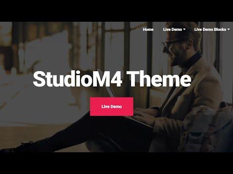 Mobirise Studio Website Theme | StudioM4