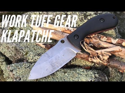 Work Tuff Gear Klapatche Knife: Sweet Compact Fixed Blade for Camping, Bushcraft