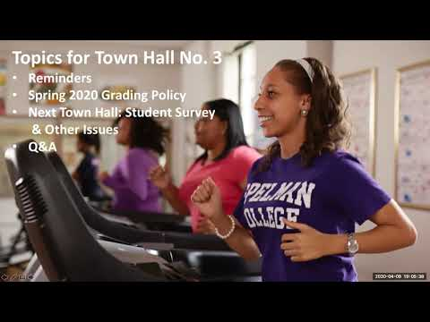 Spelman College Virtual Town Hall - Grading Policy & Q+A - April 9, 2020
