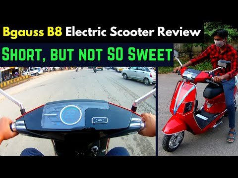 Bgauss B8 High Speed Electric Scooter in India - Full Review