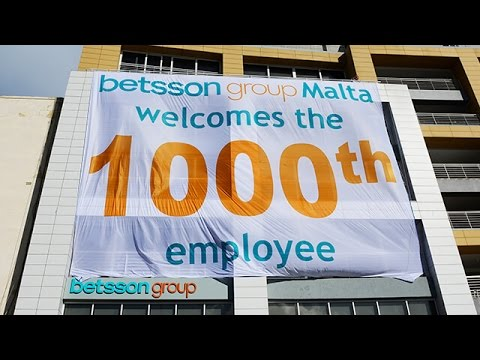 Betsson Group 1000th Employee in Malta