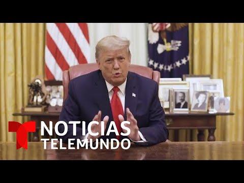 Donald Trump publica en Twitter un mensaje grabado con críticas a la toma del Capitolio