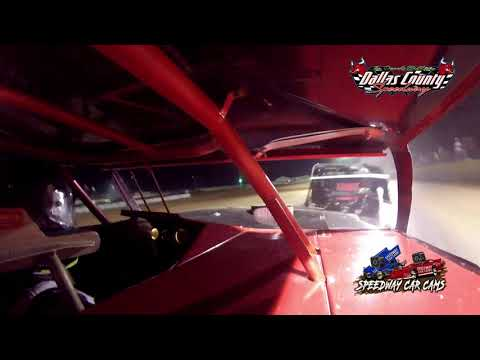 #7 William Garner - Midwest Mod - 8-20-2021 Dallas County Speedway - In Car Camera - dirt track racing video image