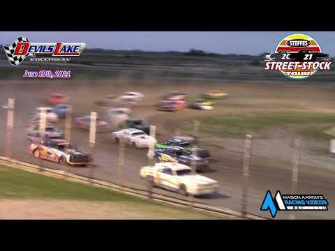 Devils Lake Speedway Steffes WISSOTA Street Stock Tour A-Main (6/19/21) - dirt track racing video image