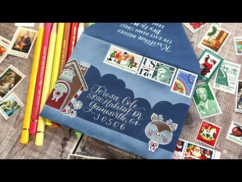 HOLIDAY MAIL ART - Scene building & calligraphy