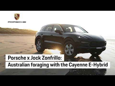 Jock Zonfrillo foraging for native Australian ingredients with the Porsche Cayenne E-Hybrid