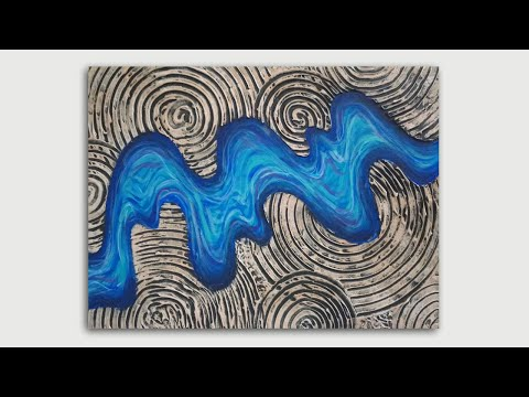 ZEN River 3D TEXTURED Acrylic PAINTING Tutorial – D.I.Y Wall ART