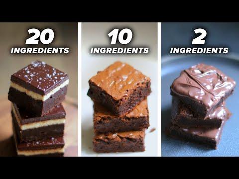 20-Ingredient vs. 10-Ingredient vs. 2-Ingredient Brownie ? Tasty