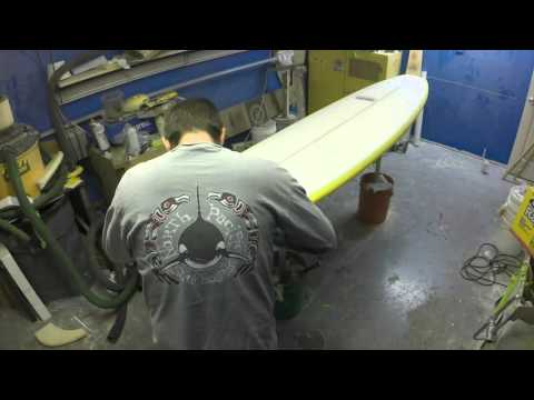Surfboard Build Start to Finish, Shape, Glass, Gloss & Polish Stop Motion - UCI-3yo3Ls2QfUqApH_Z5zRQ
