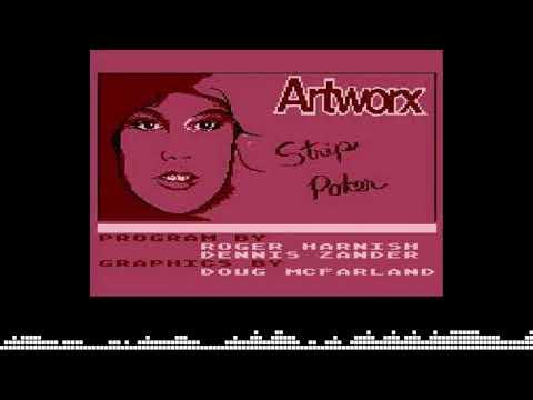 Intro y efectos de Strip Poker para computadoras Atari 8-bits