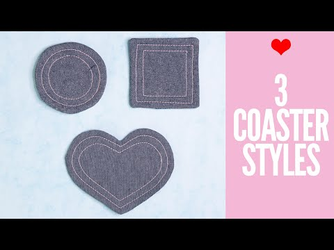 DIY Fabric Coasters – Easy Tutorial 3 Shapes