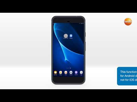 testo 160 – Inställning via Android-app