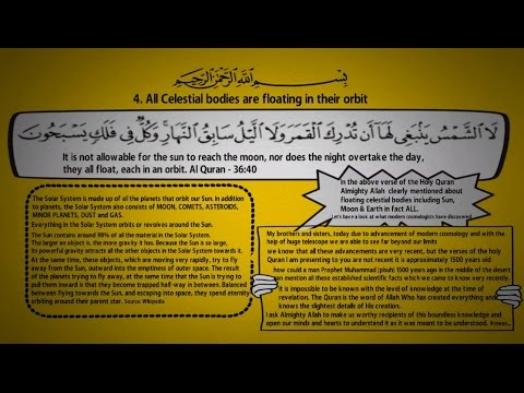 4. All Celestial bodies are floating in their Orbit - From Holy Quran the Book of Allah