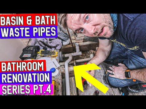 WASTE PIPES FOR BATH & WASH BASIN - Bathroom Refurbishment Pt 4