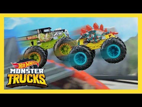 MONSTER TRUCKS VOLCANIC CLIFF TOURNAMENT! | Monster Trucks | Hot Wheels