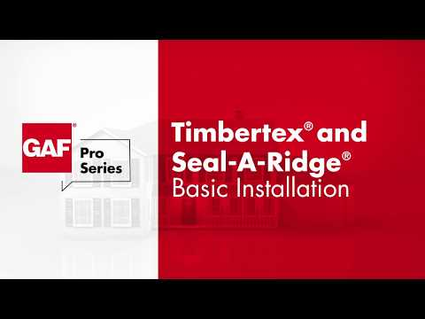 GAF Ridge Cap Timbertex® and Seal-A-Ridge®
