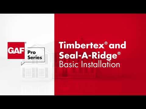 GAF Ridge Cap Timbertex® and Seal-A-Ridge®