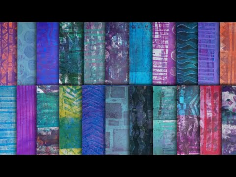 Making Monoprints with D.I.Y Foam Stamps & Gelli Plate