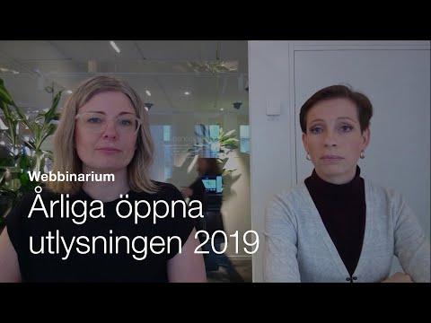 Webbinarium: Årliga öppna utlysningen 2019