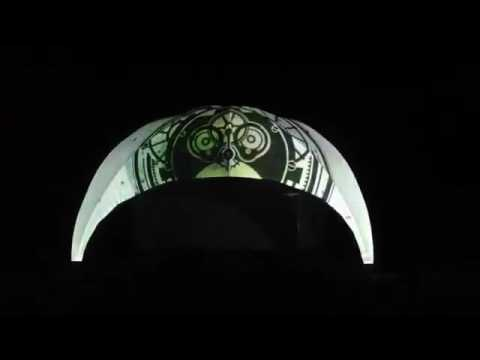 Световые эффекты на шатре Creative Structures Crossover