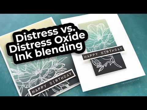 Distress vs. Distress Oxide Ink Blending