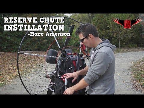 BlackHawk Rep Marc Amenson Paramotor VLOG: How to Install a Velocity Reserve Parachute!