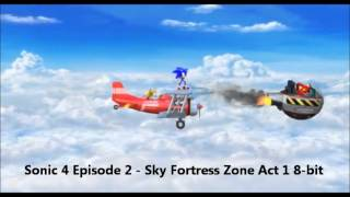 Sonic 4 Episode 2 - Sky Fortress Zone Act 1 8-bit (Rytmik Retrobits) by shadow17993