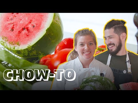 Pickling Watermelon Rinds for a Zero-Waste Gazpacho | CHOW-TO