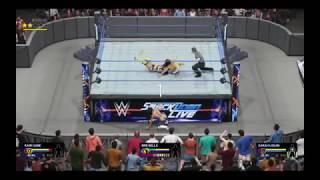 SmackDown Live | Triple Threat | Brie Bella V Kairi Sane V Sarah Logan