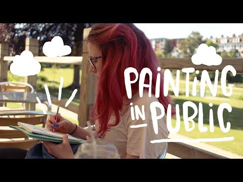 ASMR 1 HOUR of Watercolor Painting During A Rainstorm   f