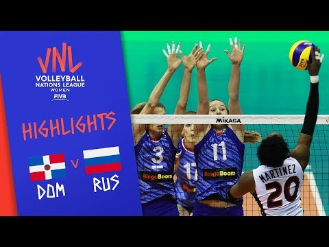 Dominican Republic vs. Russia - Game Highlights Women  Week 1   Volleyball Nations League 2019