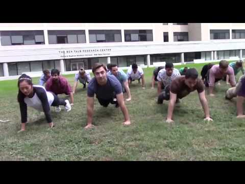 Baylor College of Medicine students take the 22 Pushup Challenge