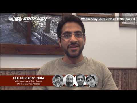 SEO Surgery India with Nitin Manchada Promo