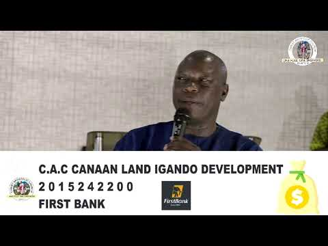 C.A.C CANAAN LAND IGANDO DISTRICT HQ (ANNUAL 7 DAYS PROPHETIC REVIVAL)  DAY 4  12TH NOVEMBER, 2020