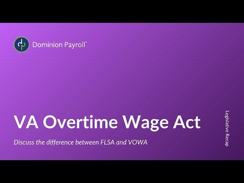 VA Overtime Wage Act
