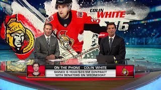 NHL Tonight:  Colin White on signing six-year deal with Senators  Aug 22,  2019